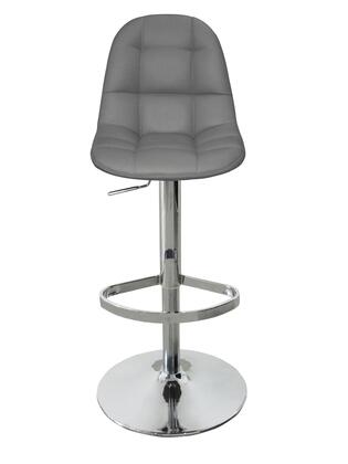 BS1337PGRY Benjamin Barstool  Gray Faux Leather  Chrome 759495