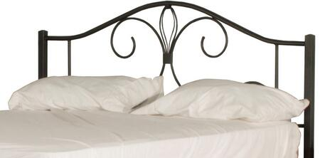 Kenosha Collection 2144HTR Twin Size Headboard with Rails  Open-Frame Panel Design and Sturdy Metal Construction in Black