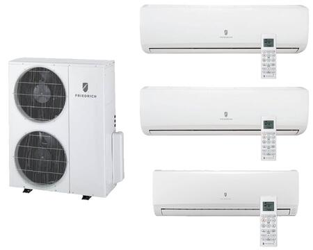 MR36TQY3JM19K218K Multi-Zone Ductless Split System for 3 Rooms  with 34 000 BTUs  Inverter Technology  4-Way Auto Swing  Heat Pump  17.5 SEER  12.5 EER  R410A