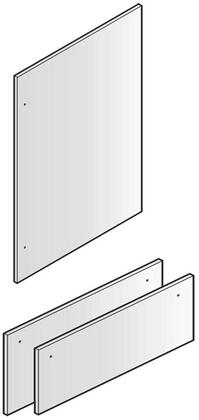 Set of 3 Door Panels for 80 inch  Installation  in Stainless