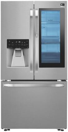 LSFXC2496S 36 inch  Instant View Door in Door Refrigerator with Counter Depth Design  Tall Ice & Water Dispenser  Slim SpacePlus Ice System  and 23.5 cu. ft.