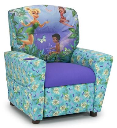 Juvenile 13001DFAIR  inch Mixy inch  Kid's Recliner with Cup Holder  Ottoman  Soft Densified Fiber Upholstery and Hardwood Frame: Disney's
