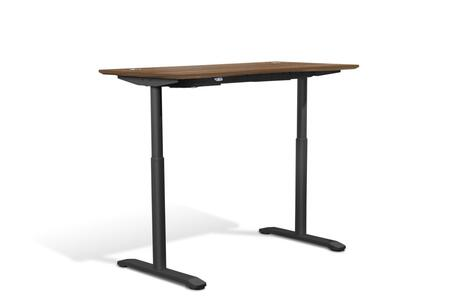 Sit Stand Collection 75527-WAL 55 inch  Electric Desk with Adjustable Height  Silent Motor  Levelers  Vacuumed Sealed MDF Materials and Open Grain Finish in