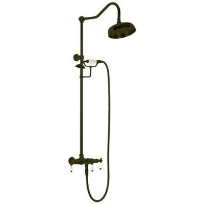 ECETS12 ORB ETS12 Wall-Mount Exposed Shower Faucet with Hot and Cold Lever Handles in Oil Rubbed