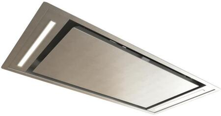 "SUT958 36"" Island Series Ceiling Mount Range Hood with LED Lighting  4 Speed Remote Control  Delay Timer  in Stainless"