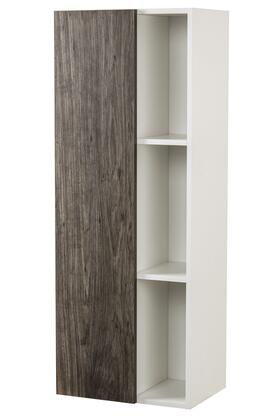 Sangallo Collection FVSTAR18LT 18 inch  Wall Hanging Linen Tower with Soft Closing Door  2 Adjustable Shelves and 2 Fixed Shelves in Stargazer