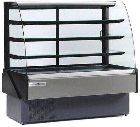 KBDCG80R Curved Glass Bakery/Deli Case with 3987 Cooling BTU  Tilt Out Curved Tempered Front Glass  in