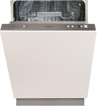 Fulgor Milano F6DW24FI1 Fully Integrated Dishwasher with Turbidity Sensor, Stainless Steel Tub, Energy Star, 9 Wash Cycles, 13 Place Setting Capacity, Adjustable Upper Rack, 9-Hour Delay Timer, AquaStop Leak Protection, Quiet Plus and 49 dB Performance: