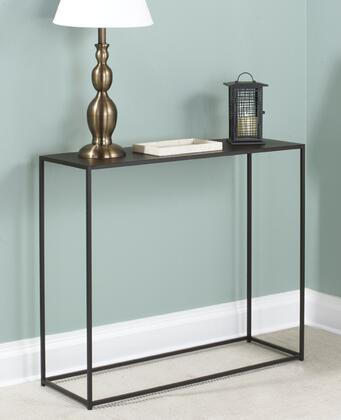16530.08.132 Urban Console Table 12 inch  x 34 inch  With Solid Steel Rods  Steel Plate Tops & In Coco