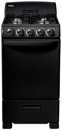 Danby DR202BGLP 20 Inch Freestanding Gas Range with 4 Burners, Sealed Cooktop, 2.3 cu. ft. Primary Oven Capacity, in Black
