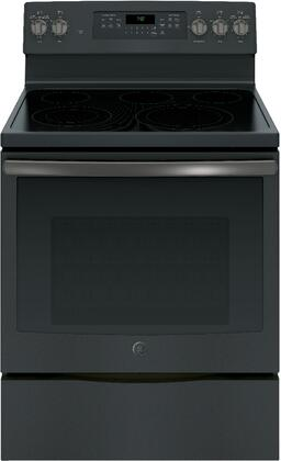 GE 5.3 Cu. Ft. Freestanding Electric Convection Range Black Slate JB750FJDS