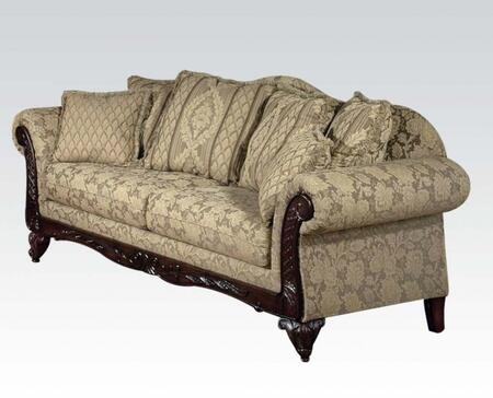 Fairfax Collection 52370 Sofa with Pillow Included  Wood Frame  Loose Cushions and Fabric Upholstery in Clarissa Camel