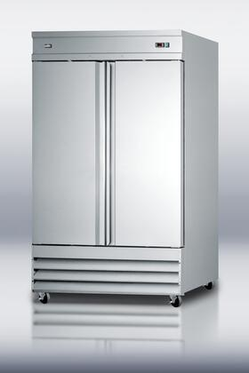 "SCFF495 54"" 46.6 cu. ft. Commercially Approved Frost-free Freezer with Self-Closing Doors  6"" Casters  Adjustable Shelves  Digital Thermostat  Front-Mounted"