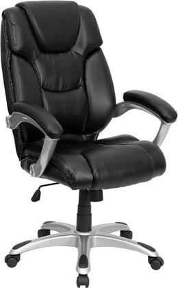 GO-931H-BK-GG High Back Black Leather Executive Office