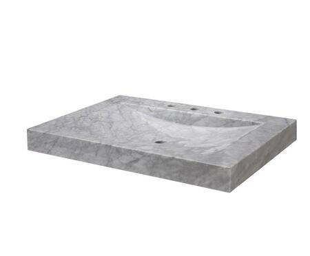 SVT300WT 30-1/8 in. Carrera Marble Vanity Top with Integral Sink Basin in