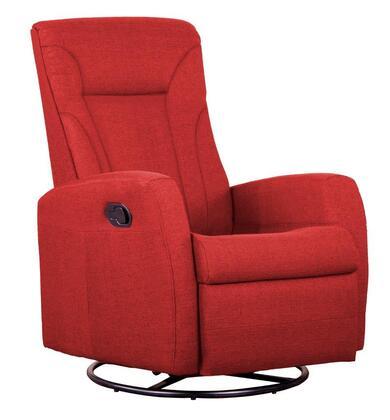 D88598MLR17 Red Reclining Glider -