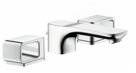 11041001 Axor Urquiola Bathroom Faucet with Metal Lever Handles and Pop Up Drain: