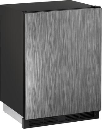Images U-1224RINT-00B 24 Energy Star Rated 1000 Series Built-In Compact Refrigerator with 5.2 cu. ft. Capacity LED Lighting 3 Tempered Glass Shelves and Digital