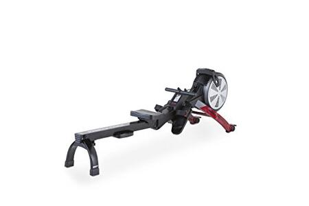 PFRW3814 550R Rowing Machine with Adjustable Air Resistance  Oversized Steel Seat Rail  LCD Display  Foot Straps  and SpaceSaver