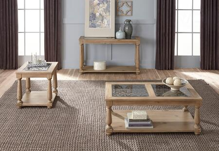 Savannah Collection 207-24-22-27 3-Piece Living Room Table Set with Rectangular Coffee Table  End Table and Sofa Table in