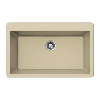 V-100 SAND Quartztone Series Granite Topmount Large Single Bowl Kitchen Sink