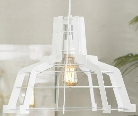 LIP18EDGEWH Industrial Edge Slice Hanging Pendant Light Lamp in