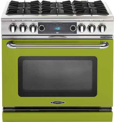 COB366EN 36 inch  Connoisseurian Series Freestanding Dual Fuel Electric Self-Cleaning Range with 4 Open Burners  4.6 Cu. Ft. Capacity  Flex Roller Racks  and