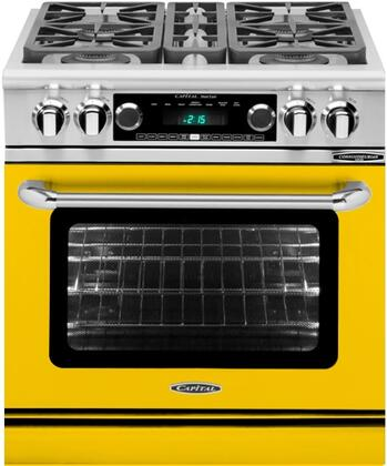 CSB304YN 30 inch  Connoisseurian Series Natural Gas Dual Fuel Range with 4 Sealed Burners  Moto-Rotis  Meat Probe and Flex-Roll Oven Racks  in Signal