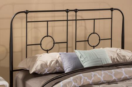 Trenton Collection 1859HT Twin Size Headboard with Rails  Open-Frame Panel Design  Small Round Castings and Metal Construction in Black