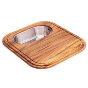 GN20-45SP EuroPro Solid Wood Cutting Board with Polished Stainless Steel