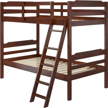 "Hayden 3.0 Collection A354 78"" Twin Size Bunk Bed with Solid Pine Wood Construction  Sleek Headboard and Wood Rails in"
