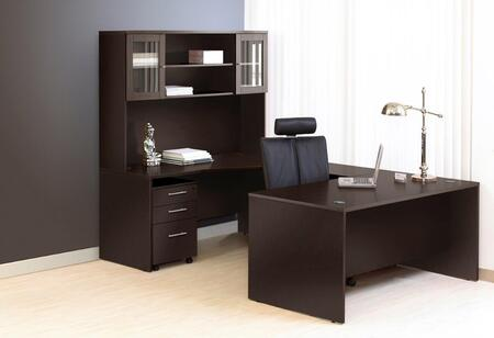 1C100011RES Espresso Executive U Shaped Desk - Right Side with