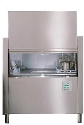 FX44 Single Tank Conveyor Dishwasher with 210 Racks of Hourly Cleaning  18.25 Gallons Wash Tank Capacity  165 Degrees F Wash Temperature  Stainless