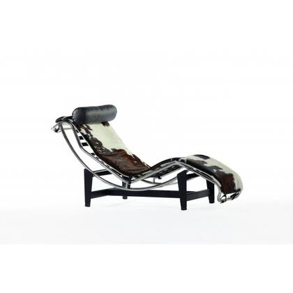 Moss FEC9003PONY Chaise Lounge Chair with Stainless Steel Frame  Steel Base and Leather Upholstery in