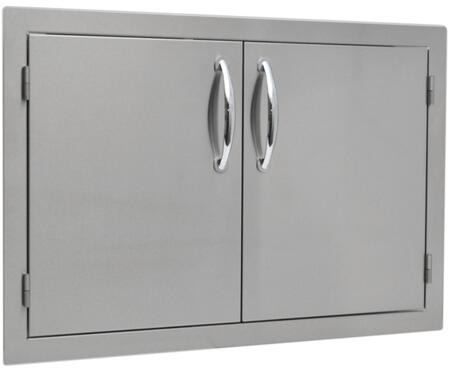 SO2AD26 26 inch  x 20 inch  Built In Stainless Steel Double Door with a Flat Frame  Flush Mount and Self Rimming