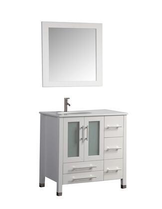 -2012W Sweden 36 Single Sink Bathroom Vanity Set