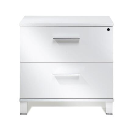 525-WH White Lacquer Lateral File
