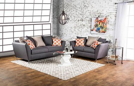 Belfield Collection SM6202-SL 2-Piece Living Room Set with Stationary Sofa and Loveseat in