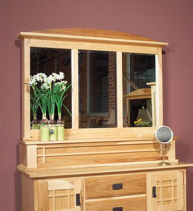 Amish Highlands AHINT5560 Dressing Mirror with a Felt Lined Hidden Jewelry Compartment  and 20% Catalyzed Top Coat Sheen in Natural