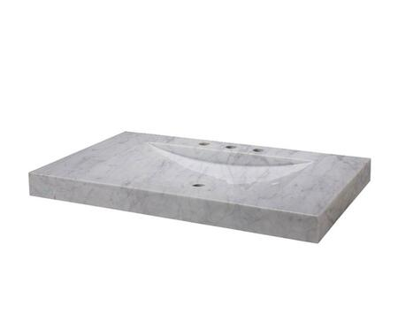 SVT360WT 36-1/8 in. Italian Carrera Marble Vanity Top with Integral Sink Basin in