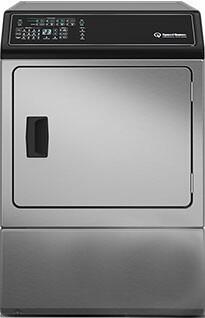 "ADEE9BSS 27"" Electric Dryer with 7.0 cu. ft. Capacity  Commercial Steel Drum  2.06 sq. ft. Door Opening  7 Pre-Set Cycles  Reversible Door  and 4 Temperature"