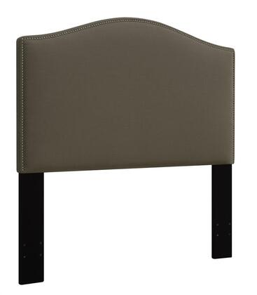 DS-D016-250-373 Fabric Upholstered Headboard For Full or Queen Bed with Nail Head Accents in