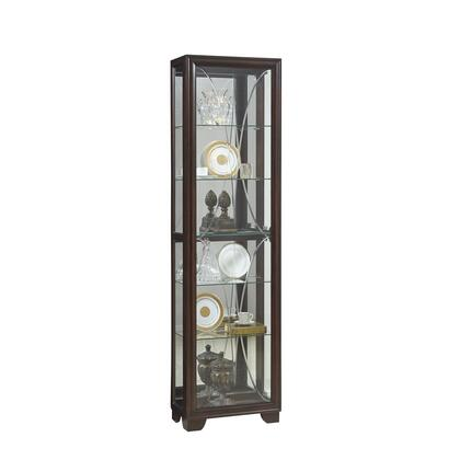 P021600 Sable Etched Glass Side Entry Display Cabinet In