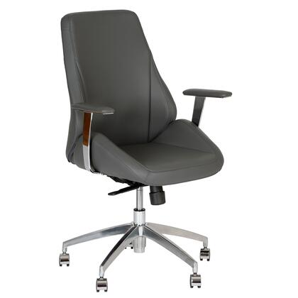 LCAROFCHGR Argo Contemporary Office Chair In Gray and