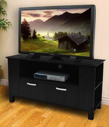 W44CMPBL 44 Black Wood TV Stand