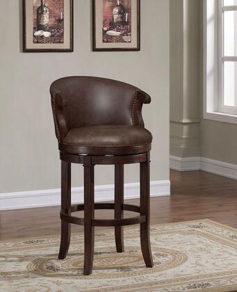 Mirelle B2-252-30LSU 30 inch  Bar Stool with 360 Swivel  Adjustable Leg Levelers and Fire Retardant Foam Cushion in Dark Cherry Wire Brush Finish with Marbled Brown