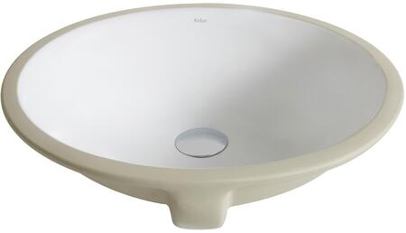 KCU271 Elavo Series 22 inch  Undermount Bathroom Sink with Vitreous China Construction  Overflow  and Easy-to-Clean Polished