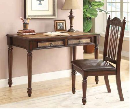 800079 2-Piece Writing Desk Set with Writing Desk and Chair in