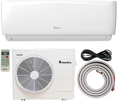 KSIA012-H216 12 000 BTU Klimaire 16 SEER Ductless Mini-Split Inverter Air Conditioner Heat Pump With 16 Ft Installation Kit  in