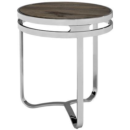 EEI-1214-BRN Provision Wood Top Side Table in Brown